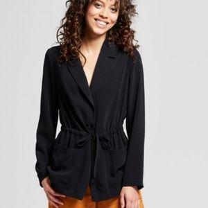 Women's Tie Waist Blazer - Mossimo Black XL